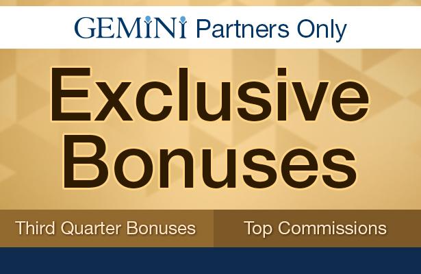 Exclusive Bonuses. Third quarter bonuses, and top commissions.