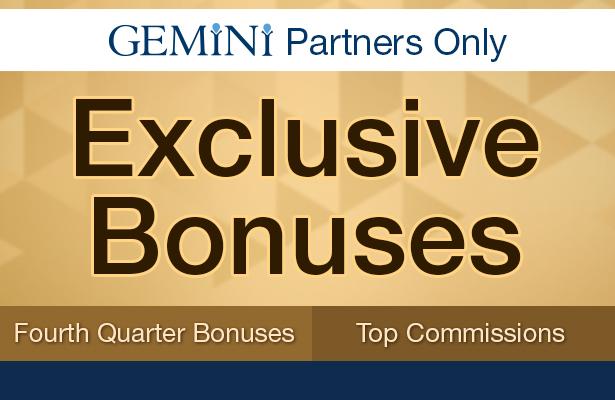 Exclusive Bonuses. Fourth quarter bonuses, and top commissions.