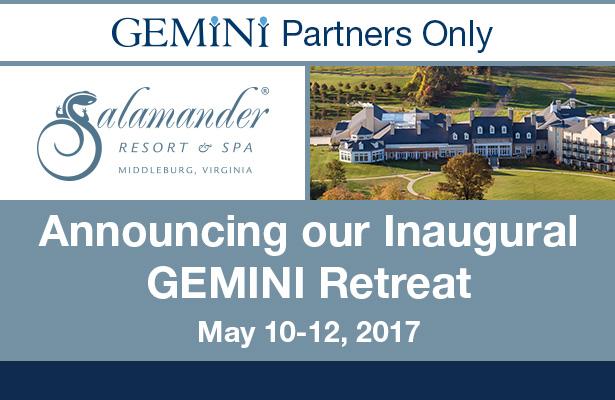 Announcing our inaugural gemini retreat.