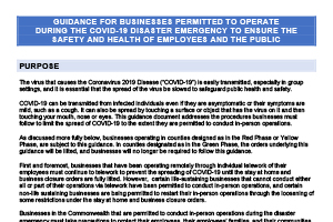 Covid-19 Business Guidance