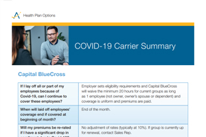 COVID-19 Carrier Summary