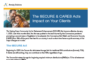 The SECURE & CARES Acts Impact on Your Clients