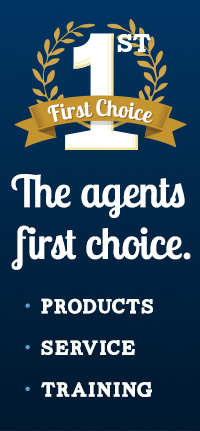 The agents first choice. Products. Service. Training.